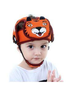 Шлем противоударный защита головы ребенка сетчатый Baby Code Тигр оранжевый