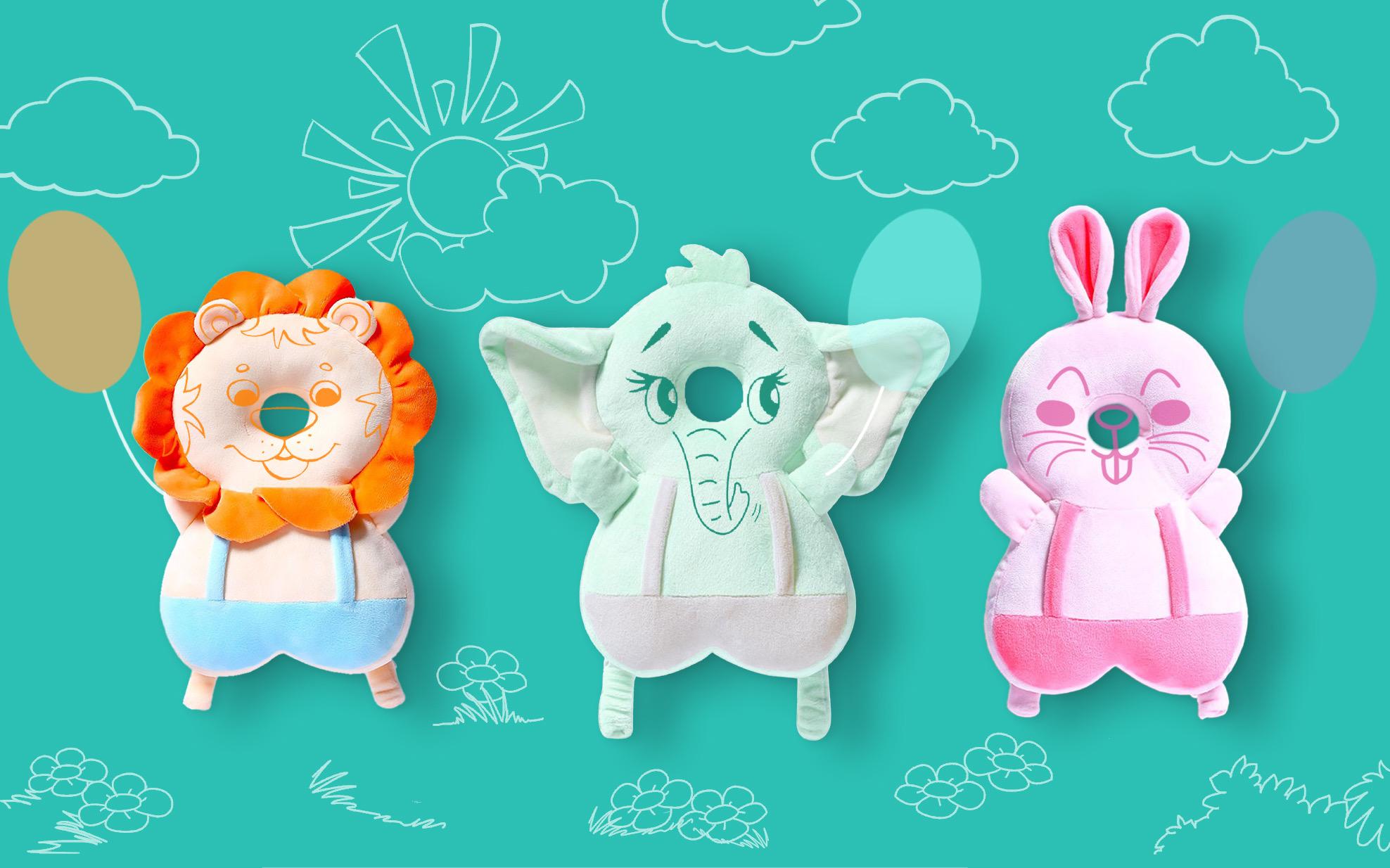 Защитные рюкзачки выполнены в виде очаровательных мягких игрушек.